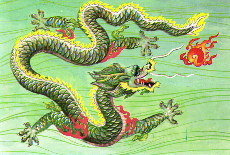 Chinese Dragon Caught by Fisherman
