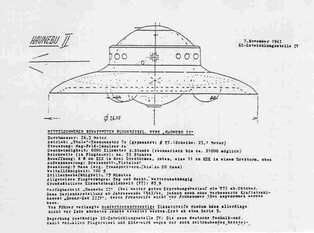 Η haunebu vril και σχέδια