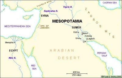 mesopotamia map Fertile Crescent Rivers