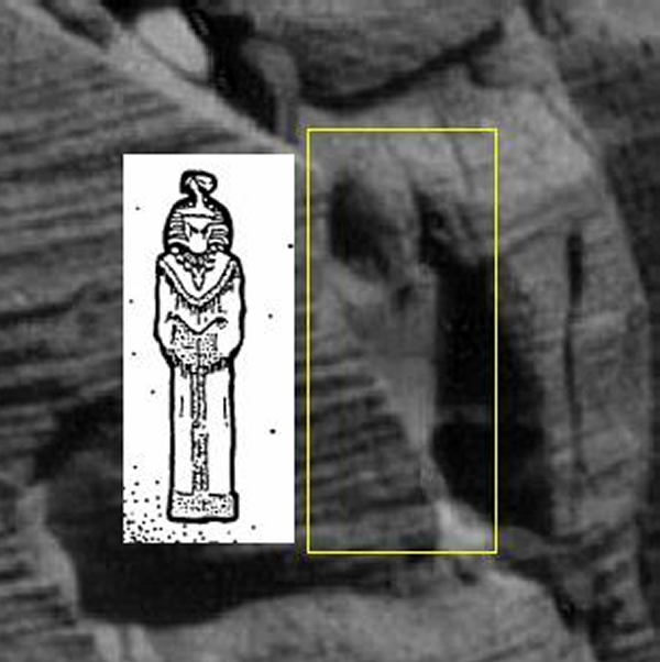 Egyptian statue on mars page