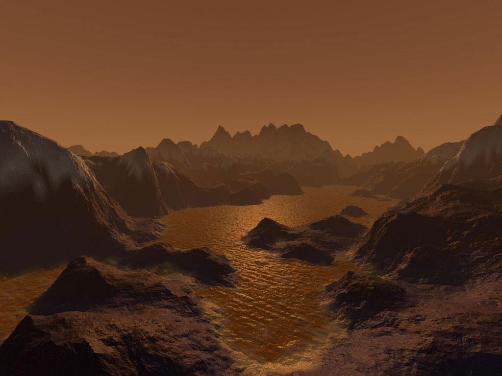 Titan Moon Surface Titan 39 s Surface Organics