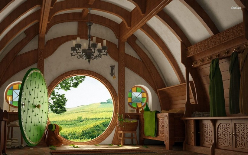 Architecture Hobbit House Design With Round Door And Window Underground  Hobbit House In New Zealand Hobbit