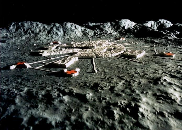Una base anómala en la Luna tendría este aspecto?