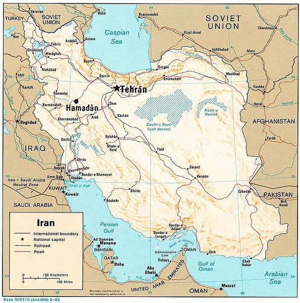 map of iran and neighboring countries. Map of Iran and surrounding