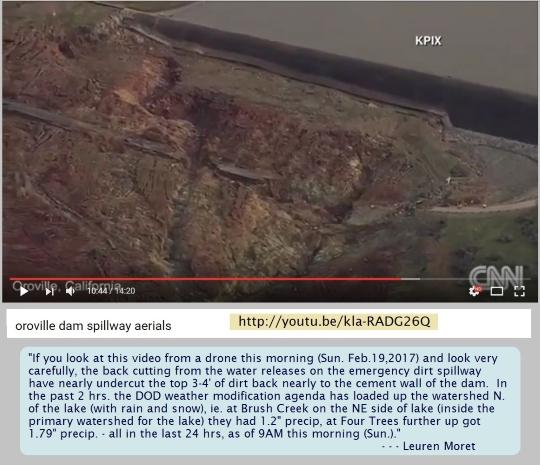 Oroville Dam in California in Danger of Catastrophic Failure
