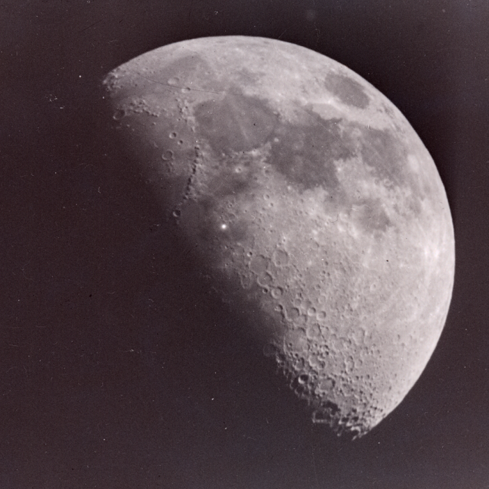 Astronomer Leon Stuart's photo of the Moon with mystery white speck